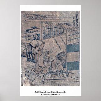 Act6 Kanadehon Chushingura por Katsushika, Hokusai Poster
