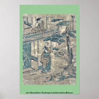 Act7 Kanadehon Chushingura por Katsushika, Hokusai Posters
