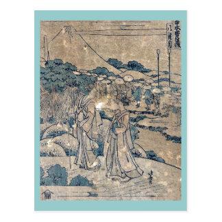 Act8 Kanadehon Chushingura by Katsushika Hokusai Post Card