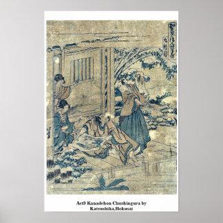 Act9 Kanadehon Chushingura por Katsushika, Hokusai Poster