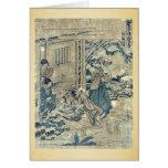 Act9 Kanadehon Chushingura por Katsushika, Hokusai Felicitación
