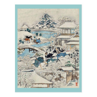 Act 11 of the Chushingura searching the grounds Post Card