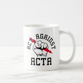 Act against ACTA Classic White Coffee Mug