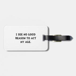 Act Age Bag Tag