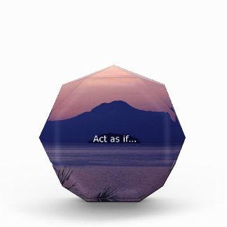 Act as if.... acrylic award