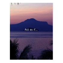 Act as if.... postcard