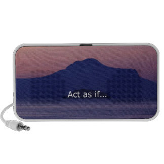 Act as if iPod speakers
