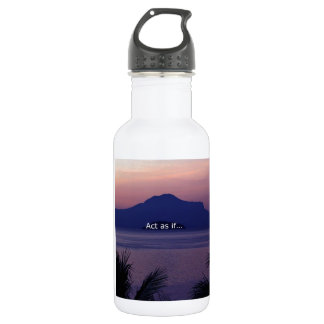 Act as if.... stainless steel water bottle