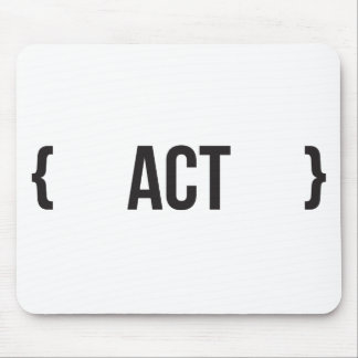 Act - Bracketed - Black and White Mouse Pad