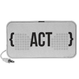 Act - Bracketed - Black and White Mp3 Speaker