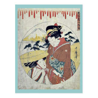 Act eight of the Chushingura by Kitagawa Utamaro Post Cards