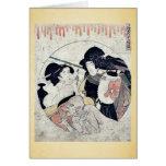 Act eleven of the Chushingura by Kitagawa, Utamaro Greeting Card