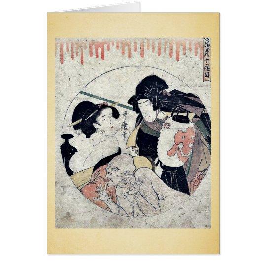 Act eleven of the Chushingura by Kitagawa, Utamaro Card