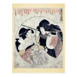 Act eleven of the Chushingura by Kitagawa, Utamaro Postcard