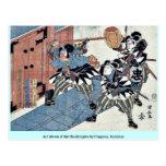 Act eleven of the Chushingura by Utagawa, Kuniyasu Post Card