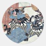 Act eleven of the Chushingura by Utagawa, Kuniyasu Sticker