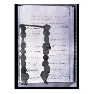 Act final establecido en el congreso de tarjetas postales