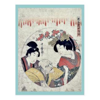 Act four of the Chushingura by Kitagawa Utamaro Post Cards