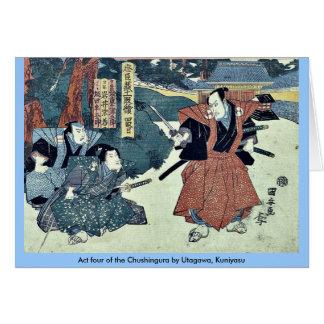 Act four of the Chushingura by Utagawa Kuniyasu Card