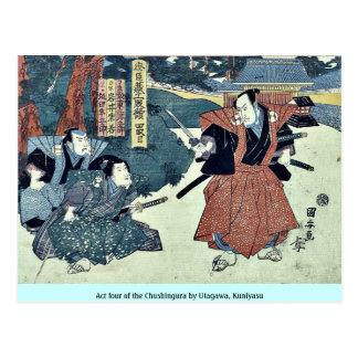 Act four of the Chushingura by Utagawa Kuniyasu Post Cards