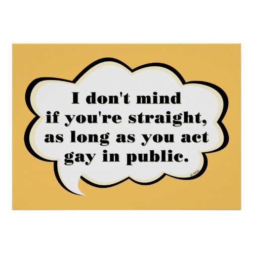 Act Gay in Public (reverse) Poster