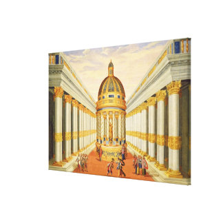 Act I, scenes VII and VIII: Baccus' Temple Canvas Print