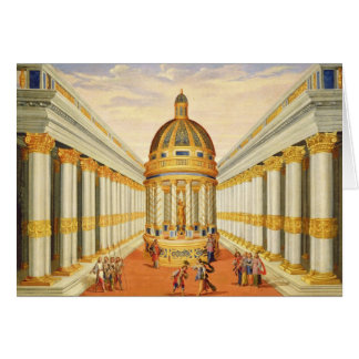 Act I scenes VII and VIII Baccus Temple Greeting Card