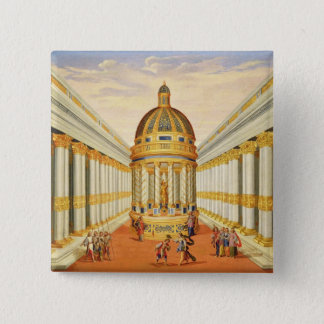 Act I, scenes VII and VIII: Baccus' Temple Pinback Button