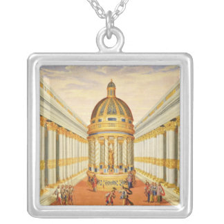 Act I, scenes VII and VIII: Baccus' Temple Square Pendant Necklace