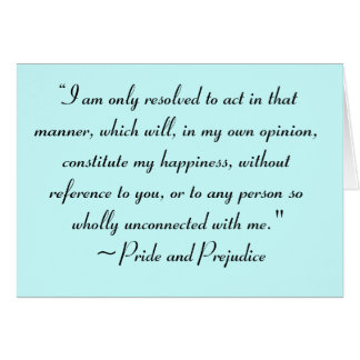 Act in Manner to Constitute Happiness Jane Austen Card