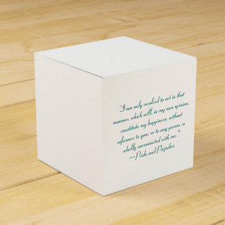Act in Manner to Constitute Happiness Jane Austen Favor Box
