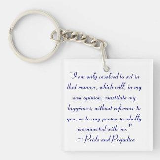 Act in Manner to Constitute Happiness Jane Austen Keychain