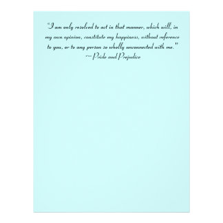 Act in Manner to Constitute Happiness Jane Austen Letterhead