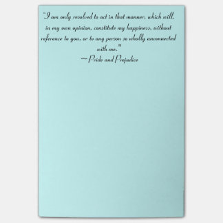 Act in Manner to Constitute Happiness Jane Austen Post-it® Notes