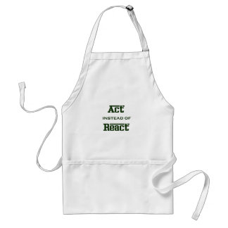 Act instead of React Adult Apron