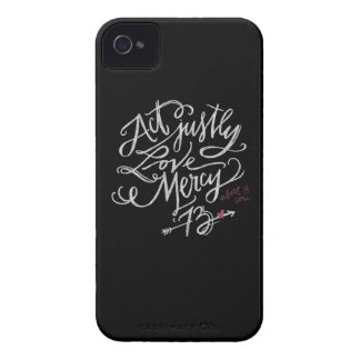 Act Justly. Love Mercy. / Abort73.com Case-Mate iPhone 4 Case