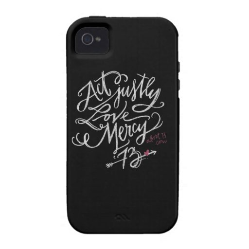 Act Justly. Love Mercy. / Abort73.com iPhone 4/4S Cover