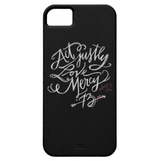 Act Justly. Love Mercy. / Abort73.com iPhone SE/5/5s Case