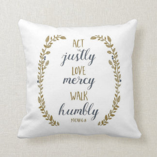 Act justly pillow