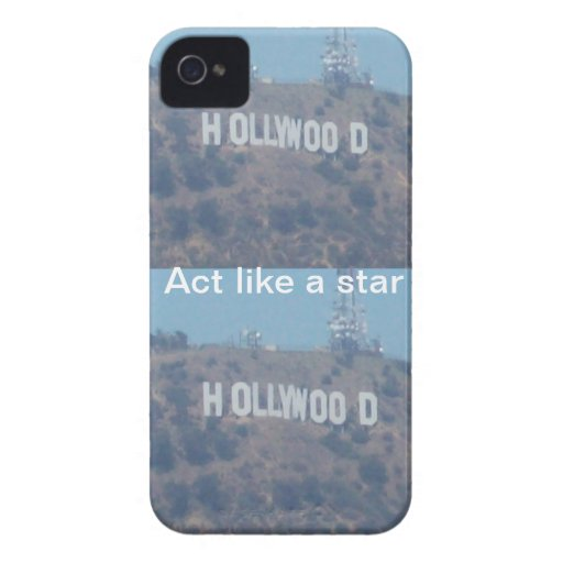Act Like A Hollywood Star iPhone 4 Case-Mate Cases