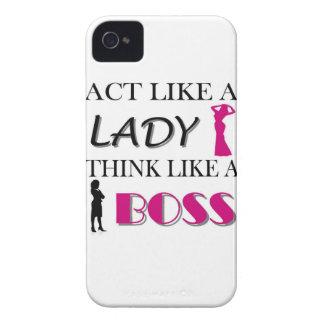 Act Like A Lady Think Like A BOSS BlackBerry Case