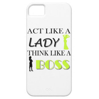 Act Like A Lady Think Like A BOSS iPhone 5 Covers