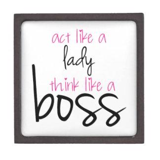 Act Like a Lady Think Like a Boss Gift Box