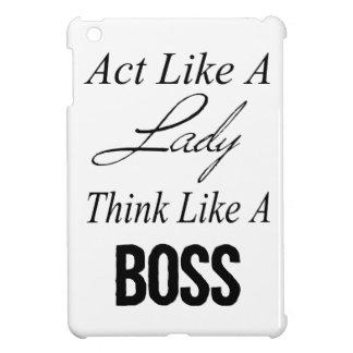 Act Like A Lady Think Like A Boss iPad Mini Cover