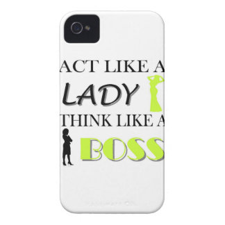 Act Like A Lady Think Like A BOSS iPhone 4 Case-Mate Case