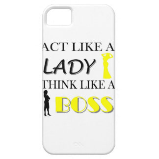 Act Like A Lady Think Like A BOSS iPhone SE/5/5s Case