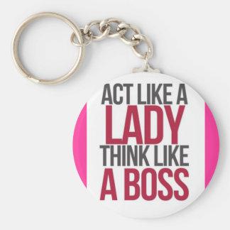 Act Like A lady Think Like a boss key chain
