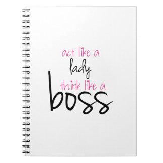 Act Like a Lady Think Like a Boss Notebook