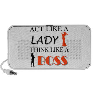 Act Like A Lady Think Like A BOSS Travelling Speakers