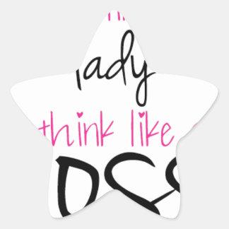 Act Like a Lady Think Like a Boss Star Sticker